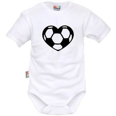 Body bébé sport : Cœur de FOOT - Collection Sport - SiMedio
