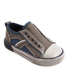 launch navy & gray slip-on sneaker #fall #zulily