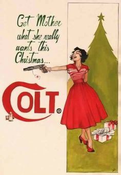 xmasorelse:   Vintage ad for Colt.