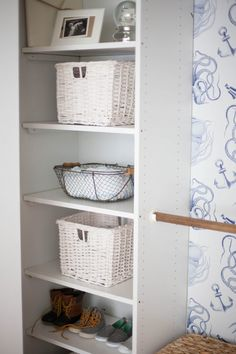 Home // Kids' Closet Makeovers & Tips for Installing Removable Wallpaper - Lauren McBride Home Decor Bedroom, Diy Home Decor, Classy Closets, Kid Closet, Closet Space, Diy Wallpaper, Home Decor Inspiration, Decor Ideas, Finding A House
