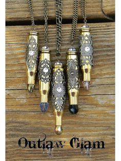 Design Your Own Bullet Necklace by SecretGardenNotes on Etsy, $36.00