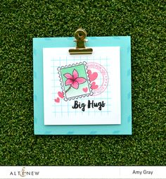 Big Hugs by @aimesgray using @Altenew's Happy Mail stamp set #stamping #masking #friend #friendship #hugs #cardmaking