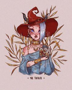 Cool Art Drawings, Art Sketches, Taurus Art, Gemini Gemini, Zodiac Taurus, Witch Drawing, Zodiac Characters, Cute Art Styles, Zodiac Art