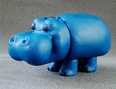 """ippopotamo blu """"Pippo"""", testimonial della Pampers i pannolini per bambini"""