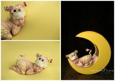 cow jumped over the moon  baby photo, baby on moon, I love you to the moon and back, newborn cow, cowgirl, newborn portraits, Chelsea Lietz Photography in San Antonio, baby girl