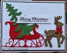 """Résultat de recherche d'images pour """"stampin up santa's sleigh card ideas"""""""