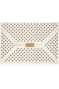 Stella McCartney | Beckett perforated faux leather clutch