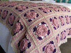 The best of knitting blanket - Knitting, Crochet Love Crochet Afghans, Crochet Bolero Pattern, Crochet Bedspread, Granny Square Crochet Pattern, Crochet Squares, Crochet Blanket Patterns, Crochet Motif, Knitting Patterns, Crochet Home