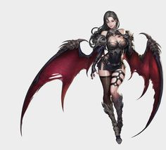 ArtStation - Succubus, Hyuckjune Jeon - - My list of the most beautiful artworks Fantasy Girl, Fantasy Art Women, Fantasy Warrior, Dark Fantasy Art, Fantasy Artwork, Woman Warrior, Female Character Design, Character Art, Character Concept