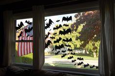 Bat Swarm Halloween Window Decoration