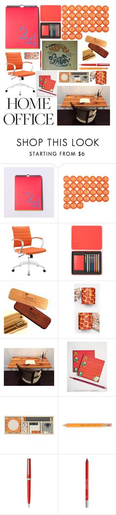 """""""My home office #homeoffice #contest #office #peachlife #syberia_set"""" by margosedih ❤ liked on Polyvore featuring interior, interiors, interior design, home, home decor, interior decorating, Block, Paul Smith, Orla Kiely and Montblanc"""