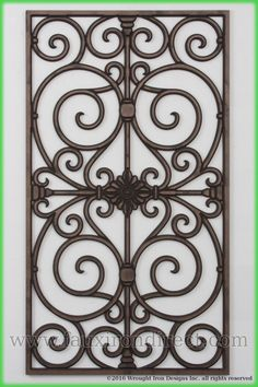 With years of experience designing Tableaux Faux Iron grilles, our design team is the best qualified for your project. Wrought Iron Decor, Iron Wall Decor, Burglar Bars, Door Grill, Fan Decoration, Stair Handrail, Kitchen Window Treatments, Grill Design, Lanterns Decor