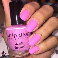 """Indie DripDrop Nail Paint  """"Dainty Dessert""""  #nails #Naildesing #Nailart #mynails #Naturalnails #indiepolish  #pinkpolish   #Design #Style #Polish #Nailpolish #Pink #pinknails   #nailcolor #Indiemaker #Indie  #polishbottle"""