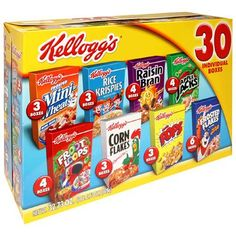 Kellogg's Cereal Variety Pack, Packages (Pack of Chocolate Candy Brands, Baby Food Recipes, Snack Recipes, Bad Room Ideas, Crunch Cereal, Food Wishes, Breakfast Cereal, Food Goals, Easy Snacks