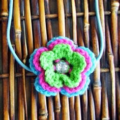Tri Colored Flower Headband