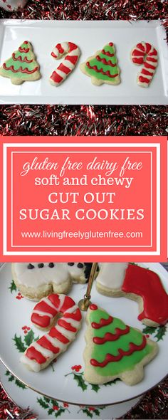 Gluten Free Dairy Free Sugar Cookies: These delicious cookies taste just as they should and are easy to manage for being gluten free. Use them for Christmas Cookies and get the kids involved. www.livingfreelyglutenfree.com