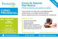 Curso Presencial (Primeros Auxilios)  Soporte Vital Básico para padres. Edificio Centris