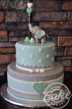 Baby Boy Shower Cakes With Elephants.Simple Boy Baby Shower Cake With Blue Ombr And Double . Elephant Baby Shower Cake This Was Made To Match The . Torta Baby Shower, Tortas Baby Shower Niña, Baby Shower Pasta, Baby Shower Snacks, Baby Shower Cakes For Boys, Baby Boy Cakes, Baby Shower Brunch, Baby Shower Cupcakes, Baby Boy Shower