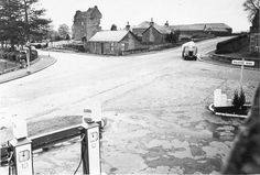 Baldovie Road garage at Arbroath Road looking towards Claypotts Road and Castle Dundee, 1950's