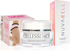 Buy our best-selling anti-aging skin care package  INCLUDES: 1 FL. OZ. BOTTLE OF CELLESSENCE ANTI-AGING FACE CREAM, 15 ML. BOTTLE OF NUVACELL WRINKLE REPAIR EYE SERUM, 9 OZ. JAR OF SUGAR STRIPEASE BY CELLESSENCE  http://www.buycellessence.com/products  #cellessence #skincare #skin #beauty #nuvacell #wrinklerepair #wrinklefree