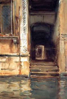 John Singer Sargent, Venetian Doorway (also known as Venetian Passageway), watercolor on paper, c.1903-04, Metropolitian Museum of Art, New York City