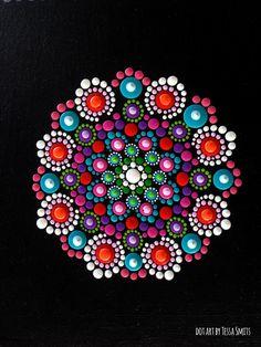 dot art schilderij FLOWERS Tessa Smits - detail1