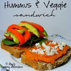 Amy's Cooking Adventures: Hummus & Veggie Sandwich