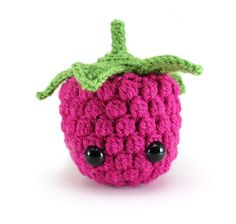 Make this cute amigurumi raspberry with Lion Brand Vanna's Choice! Get the crochet pattern by Megan Barclay (paid pattern) and join her crochet along!