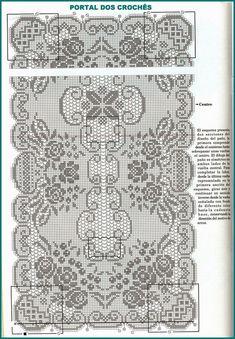 portal dos croches caminho para mesa em croche de file com motivos de rosas - PIPicStats