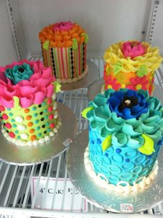 colorful cakes -- white flower cake shoppe