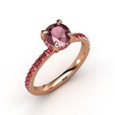 The Carrie Ring #customizable #jewelry #garnet #ruby #rosegold #ring