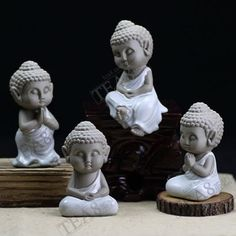 Authentic pale blue Ru opening piece tea pet ornaments Buddhism and Buddha statues lovely comfortable home or car accessories