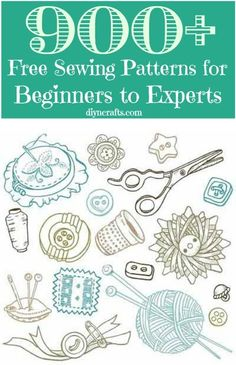 900+ Free Sewing Patterns • click through to the free pattern directory... some of the links are defunct, but some are actually pretty useful.