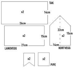 Mal til pepperkakehus | Ultra  Cutouts for gingerbread house