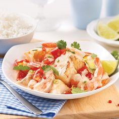 Mijoté de crevettes et poisson au lait de coco - Recettes - Cuisine et nutrition - Pratico Pratique