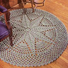 Learn how to crochet a round rug Starburst Rug Crochet ePattern