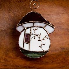 Gnome Mushroom House - Suncatcher - Stained Glass by Robert Michael Crow, via Flickr
