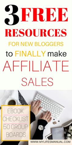 Affiliate marketing for beginners. Make affiliate sales from your blog. Make money blogging with these 3 FREE resources. New bloggers with small audience should not worry about making affiliate sales. Download them now!  #AffiliateMarketing #makemoneyblogging
