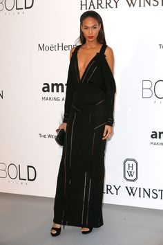 Joan Smalls. See what all the stars wore at the Cannes amfAR gala.
