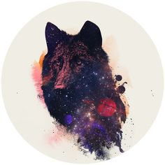 A fox in the cosmos. A removable wall decal. One for the win! And perfect for any room. Róbert Farkas is a digital artist located in Budapest, Hungary. He works as a broadcast animator and web designe