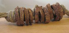 DIY Indestructible Dog Toy: Jute (or hemp) and sweet potatoes