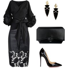 A fashion look from December 2016 featuring Chicwish tops, Christian Louboutin pumps and Givenchy clutches. Browse and shop related looks.