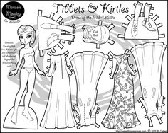 A Printable Historical 1300s Paper Doll Coloring Page
