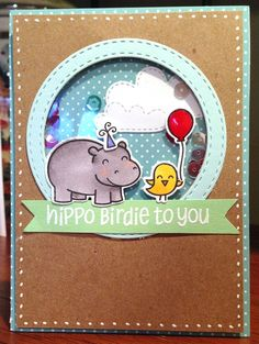 This little card of mine | Lawn Fawn 5th birthday blog hop card