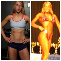 The Lows: (L) 152 in 2006 before my first figure competition. (R) 154 in my 3rd competition in 2008.