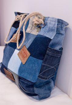 Женские сумки ручной работы. Ярмарка Мастеров - ручная работа Джинсовая сумка. Handmade.