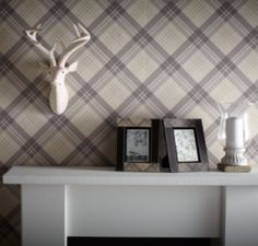 Fairburn tartan wallpaper by Arthouse - 252703