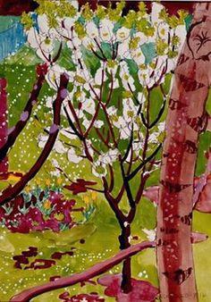 CHARLES BURCHFIELD Cherry Tree in May (1916)