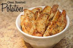 Oven Roasted Potatoes via MrsJanuary.com #recipe