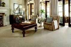 Traditional Living Room | Karastan's Leighland Carpet